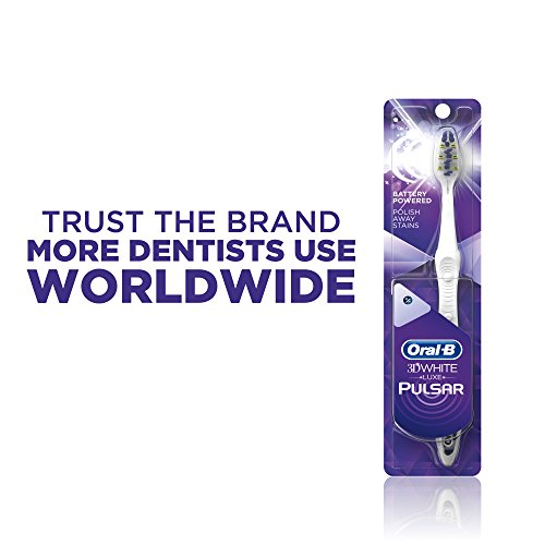 Oral-B Pulsar 3d White Advanced Vivid Soft Toothbrush Twin Pack (Colors May Vary)