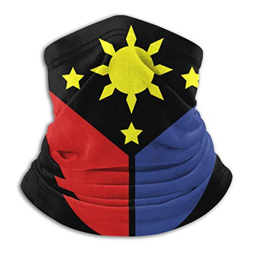 Pinas Flag Unisex Face Cover Wind Resistant Neck Gaiter Balaclava Ski Masks Breathable Windproof Face Warmer for Outdoor Camping Motorcycle Running