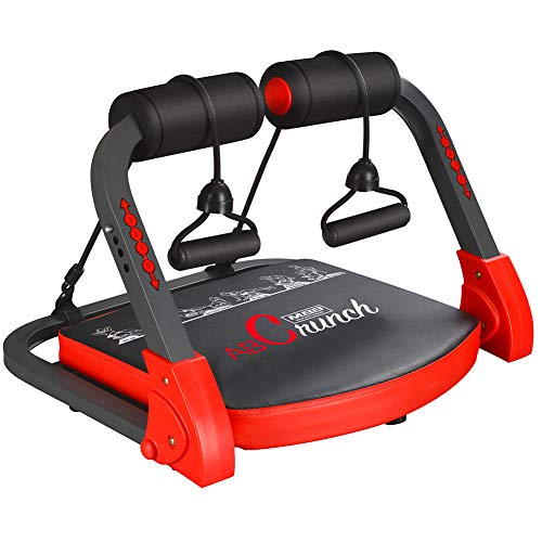 TOGEDI Core Trainers Ab Crunch Home Abdominal Cardio Machine Body Fitness Pectoral Muscle Biceps Building Workout Exerciser Equipment with Resistance Bands Exercise Guide Sport Towel for Gym Office