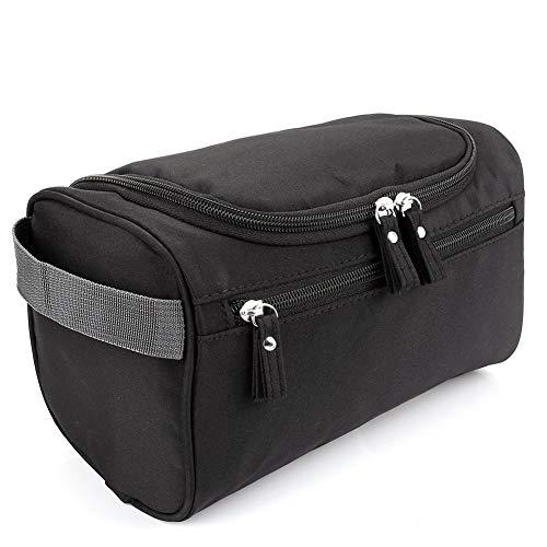 Bolsa de artículos de tocador de viaje,CoWalkers kit Dopp impermeable colgante para accesorios de maquillaje para afeitar, artículos de tocador para afeitar y maquillaje para hombres y mujeres (Negro)