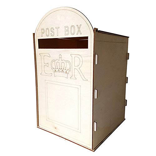 Phayee Träbrevlåda, kreativ hantverksdekoration, bröllopspostlåda personlig kortlåda, för presentkort