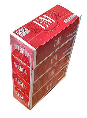 Unbekannt Sconosciuto L&M Red Extra Manicotti 1000 Pezzi (4 X 250) (colonne, Manicotti Filtro,...