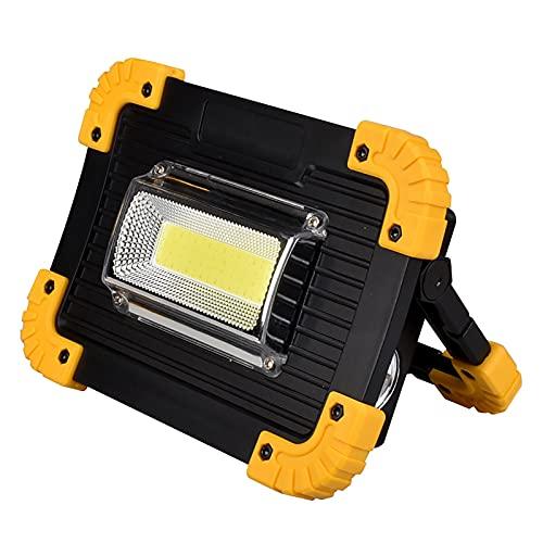 Luz LED recargable de mano portátil luz de trabajo Spotlighting linterna-alimentado por batería se puede utilizar como energía móvil camping al aire libre impermeable con soporte uso multimodo