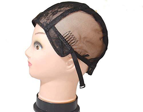 Bonnet de perruque moyen en U gauche, droite et milieu (bonnet moyen entier).