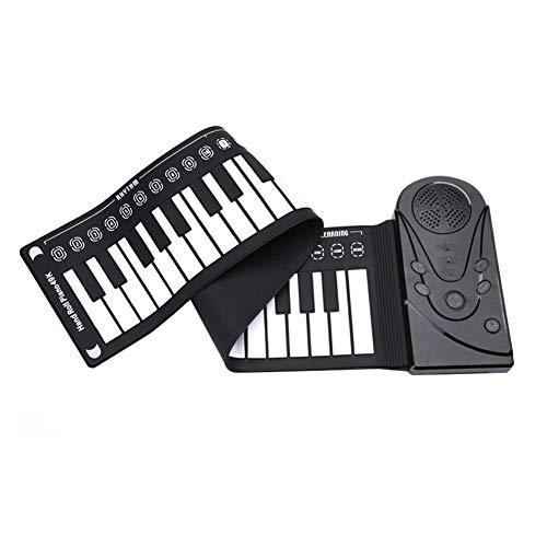 Teclado electrónico plegable plegable para piano de 49...