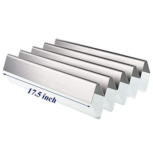 Utheer 7620 Grill Flavor Bars 17.5 Inch for Weber Genesis 300 Series E310 S310 E320 E330 EP310 EP320 EP330 Gas Grill Replacement Parts (Front Mounted Control Panel), 16 GA Non Magnetic Stainless Steel