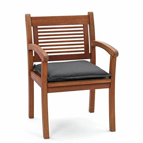 Kissen für Hocker Sessel Bank 49 x 49 x 6 cm Rio 50318-701 in anthrazit ohne Sessel (1)