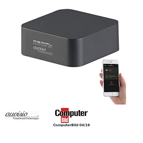 auvisio Alexa Infrarot: Lernfähige IR-Universal-Fernbedienung mit App, 360°, für Amazon Alexa (WLAN Universalfernbedienung)