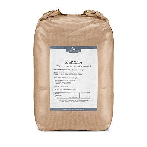Krauterie Baldrian-Wurzel gemahlen in hochwertiger Qualität, frei von jeglichen Zusätzen, für Pferde und Hunde (Valeriana officinale) – 2000 g