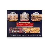 AHMAD TEA English Tea & Shortbread Pack 30 Teabags & 200gm Shortbread イングリッシュティー&ショートブレッドパック30ティーバッグ&200gmショートブレッド