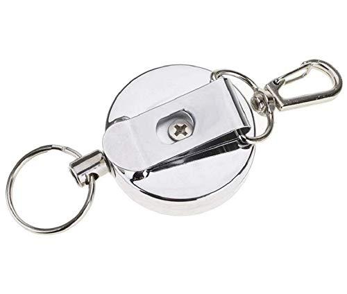 MAGICVOGEL 2 Stück JoJo Schlüsselanhänger mit Reißfest Schnur Ausweisjojo mit Kartenhalter ausziehbar Schlüsselband Schlüsselrolle mit Gürtelclip für Kartenhalter Schlüsselkarten