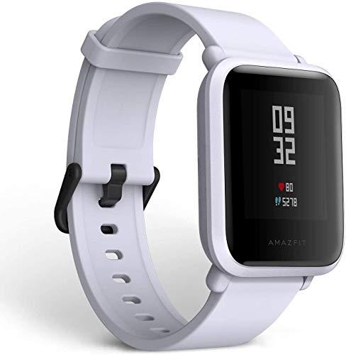 "Amazfit Bip Smart Watch White, Glonass GPS Monitor de frecuencia Cardiaca de Reloj Deportivo Ultra-liviano 1.82"", Impermeable IP68 - Versión UE"