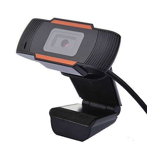 OWSOO 720P Cámara Webcam Incorporado Micrófono, Enfoque Automático, Cámara USB con Clip para Reuniones/Estudio en Línea