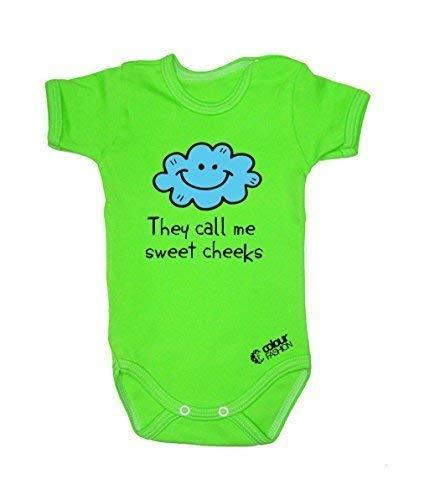 Colour Fashion Drôle Cloudlet Doux Cheeks Garçon Fille Unisexe Combinaison Manche Courte 100% Cotton Petit Bébé - 24 Mois 0030 - Vert, Tiny Baby, 52 cm