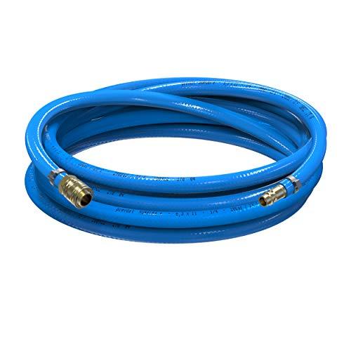 AUPROTEC Sicherheits Druckluftschlauch Set Prevost PVC-Schlauch Surflex Pro + Messing Schnellkupplung Auswahl: (3m Meter, Innen Ø 6mm)