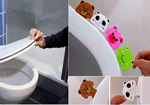 HUELE 4pcs lovely cartoon four animal toilet Seat lifter handle Hygienice clean lifter lower