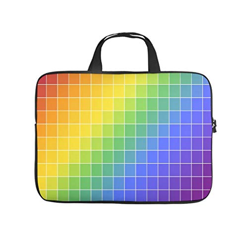 Rainbow Colourful Tie Dye Laptop Bag Waterproof Laptop Protective Bag Design Notebook Bag for University Work Business