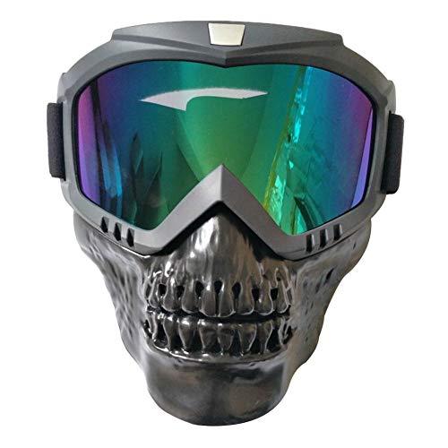 Liteness Máscara Desmontable de Gafas, Casco de Calavera de Motocicleta, Arena. Gafas, Gafas Deportivas al Aire Libre.