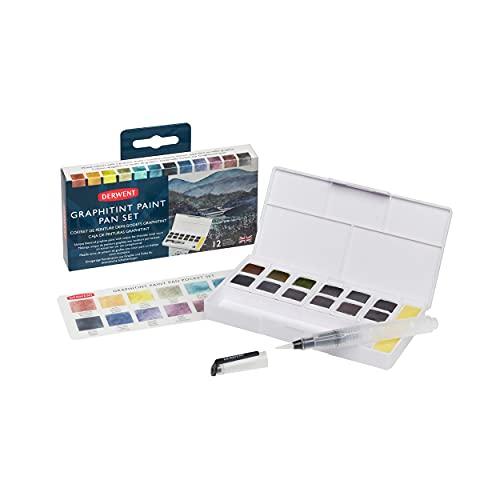 Derwent Graphitint Paint 12 Pan Palette (2305790)