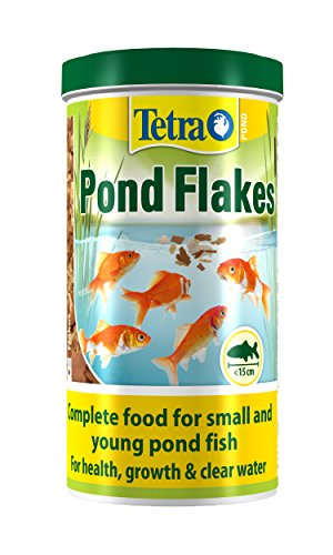 Tetra étang Flocon Poisson Nourriture, Nourriture complète pour Petits et Jeunes Poissons, Bassin 1 Litre