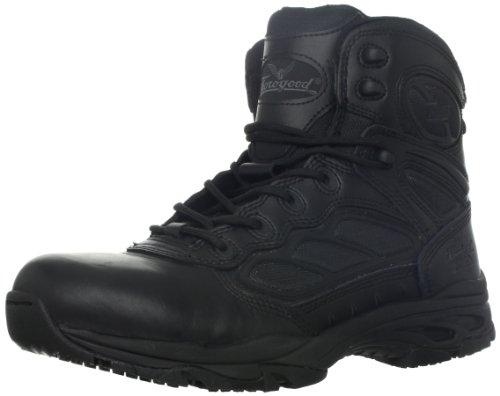 "Thorogood Men's 6"" Side Zip-M, Black Leather/Nylon, 13 W US"