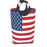 Bandera de Estados Unidos Barras y estrellas Sirena marina patriótica Tortuga marina Delfín Arrecife de coral Peces Océano Cesto