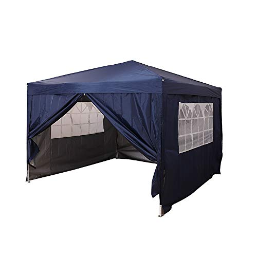 elevenfurniture Pop Up Gazebo Marquee Garden Awning Party Tent Canopy 2.5x2.5m (Blue)