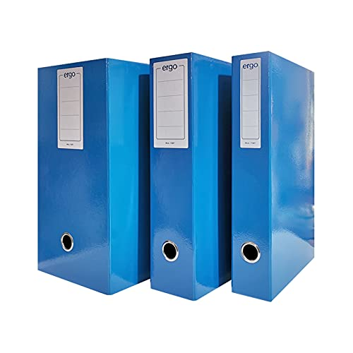 Scatola Portaprogetti Blu Dorso 18 cm Chiusura a Bottone confezione 5 pezzi Ergo 1788T1812