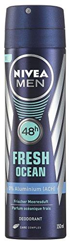 Nivea Deo Spray Fresh Ocean, ohne Aluminium 150 ml, 4er Pack (4 x 150 ml)