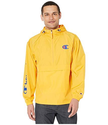 Champion Men's Packable 1/4 Zip Jacket, C Gold,...