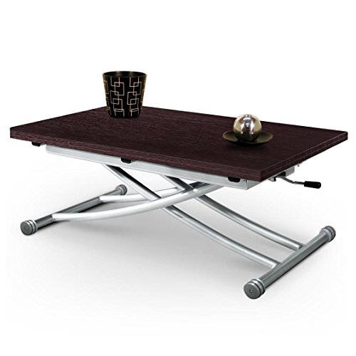 giovanni marchesi design Table Basse relevable, Bois, Metal, Wengue, Taille Unique