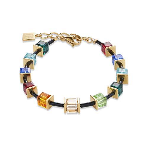 Coeur De Lion 4975/30-1500 armband Geocube® Swarovski® Limited Edition roestvrij staal multicolor