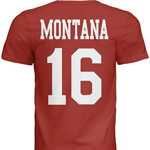 Hall of Fame Sports Memorabilia NWT New Montana #16 San Francisco Red Custom Screen Printed Football T-Shirt Jersey No Brands/Logos Men's (Extra Large)