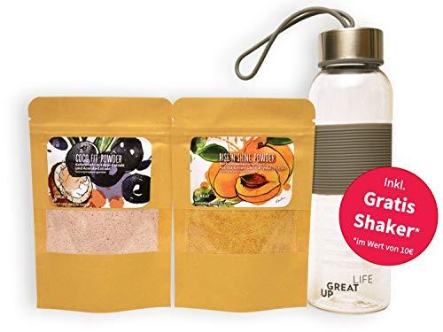 Immun Boost Superfoods Pulver Mix (2 x 10 Portionen + Shaker) mit Zink und natürlichem Vitamin C aus Acerola und Acai |Immunsystem & Abwährkräfte stärken | Antioxidantien.