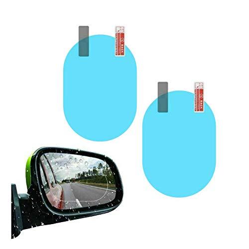 MUCHEN SHOP Protectora del Espejo Retrovisor Coche,2 Pack Película a Espejo Retrovisor Prueba de Lluvia Antiniebla Antiarañazos 360 Redondos Vista Posterior del Coche Espejo para Automóviles