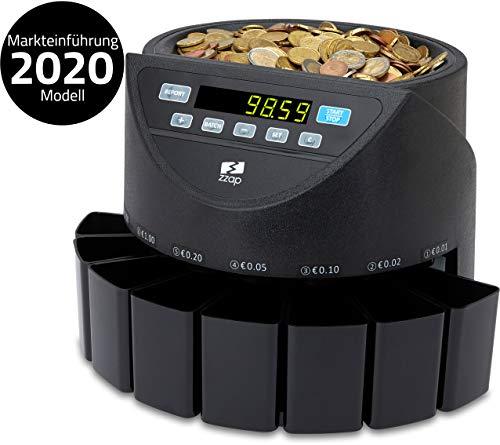 ZZap CS20 - Automatischer EURO Münzzähler & -sortierer - Geldzählmaschine Münzzählautomat Geldzähler