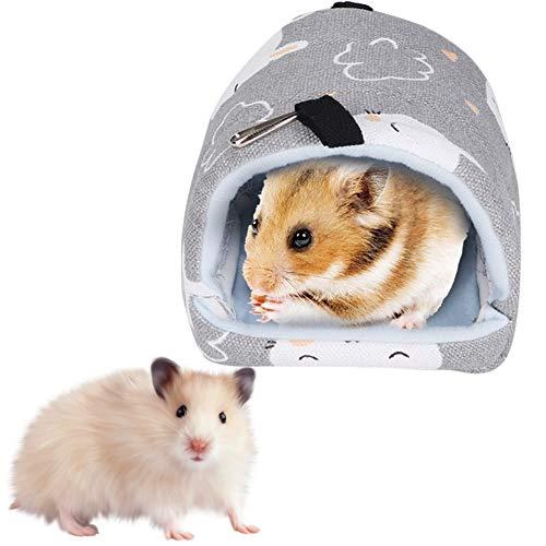 Hamster Hamaca, Cama Colgante Suave Estera para Dormir Lienzo Decoración de Jaula de Casa para Sirio Hamster Erizo Gerbils Chinchillas Ardillas Conejillos de Indias Golden Bears(Conejo Gris)