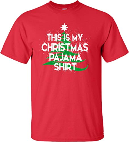 Go All Out XXXX-Large Red Adult This is My Christmas Pajama Shirt T-Shirt