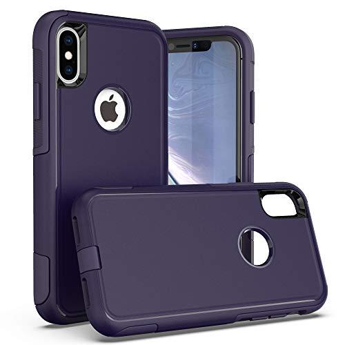 Krichit Pioneer Series Case for iPhone X Pioneer Case Heavy Duty Case iPhone Xs Case (Pioneer Ink Blue)