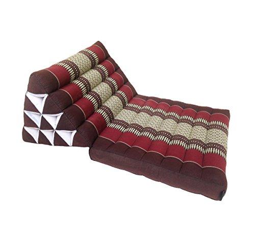 Colchón de meditación tradicional Thai Kapok, con cojín de respaldo, estilo oriental tradicional, para yoga, masaje o relajación, se puede plegar