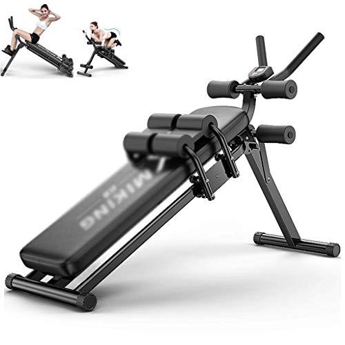 Sit-Ups Fitnessgerät, multifunktionales Bauchtrainingsgerät, Trainings-Stuhl, Taillentrainer, verstellbarer Fitness-Stuhl, formendes Trainingsgerät (Farbe: Schwarz, Größe: 116 x 45 x 98 cm)