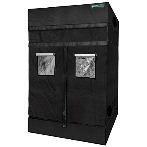 ULTRA YIELD 60'x60'x84' + 12' Extension Grow Tent - 1680D Mylar Professional Indoor Growing Tents - Use for Hydroponics Growing System - 5x5