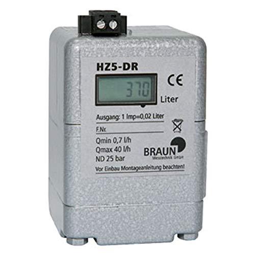 Ölzähler HZ 5-DR mit LCD Digitalanzeige + Impulsausgang (Reedkontakt) I=0,02 l (0,7-40 l/h)
