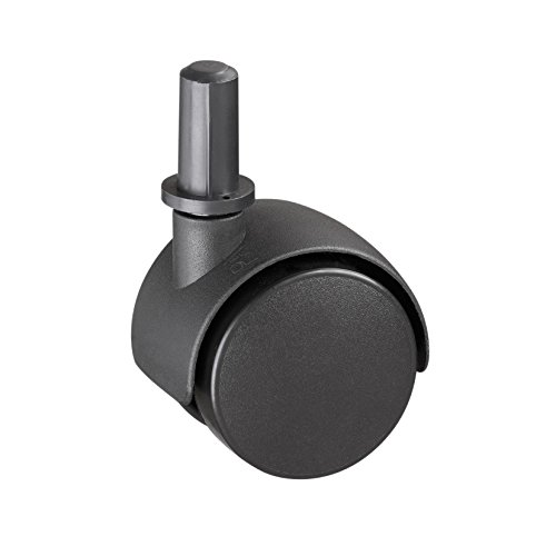 Metafranc Doppelrolle Ø 40 mm - mit Stift und Hülse - Kunststoff-Rad - Harte Lauffläche - Gleitlager - 20 kg Tragkraft / Transportrolle / Möbelrolle / Containerrolle / Parkettrolle / 800120