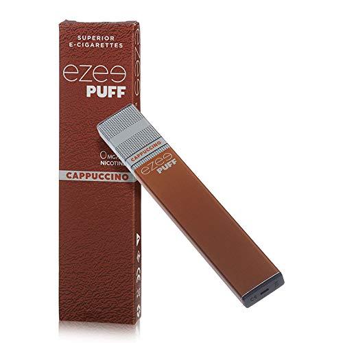 Ezee Puff Cigarrillo Electrónico Desechable sabor a Cappuccino e-liquido Sin Nicotina y sin Tabaco E-Cigarrillo para vapear 280 mAh Batería Paquete de 2