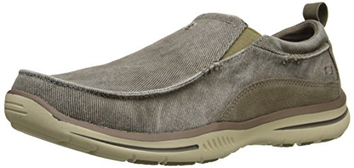 Skechers Men's Relaxed Fit Elected Drigo Slip-On Loafer,Taupe,10.5 3E US