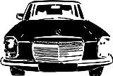 Wandtattoo: Mercedes-Benz/8, Front, Kühlergrill,