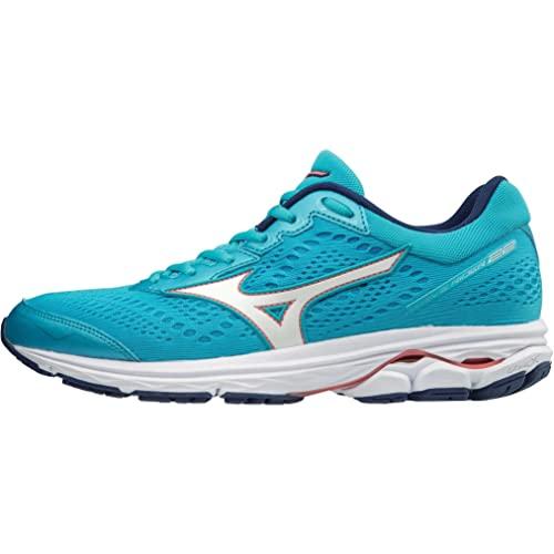 Mizuno Wave Rider 22, Zapatillas de Running Mujer, Azul (Blueatoll/White/Georgiapeach 01), 37 EU