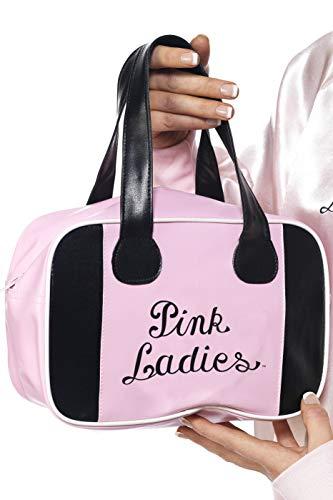 Smiffys-32043 Licenciado Oficialmente Bolsa para Bolos Pink Lady de Grease, con Logotipo, Color Rosado, No es Applicable (Smiffy'S 32043)