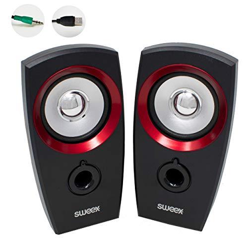 I-CHOOOOSE LIMITED luidspreker voor PC met USB-stroomvoorziening, 3,5 mm Aux Jack - 2 W, compacte monitor voor thuis